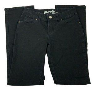 Wrangler Womens Mid Rise Bootcut Black Jeans Sz 5